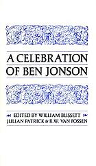 A celebration of Ben Jonson : papers presented at the University of Toronto in October 1972
