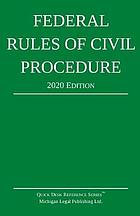 FEDERAL RULES OF CIVIL PROCEDURE : with statutory supplement.