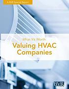 What it's worth : valuing HVAC companies