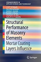 Structural performance of masonry elements : mortar coating layers influence
