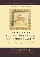 Christianity, social tolerance, and homosexuality - gay people in western e.