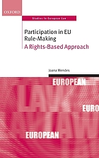 Participation in EU rule-making : a rights-based approach